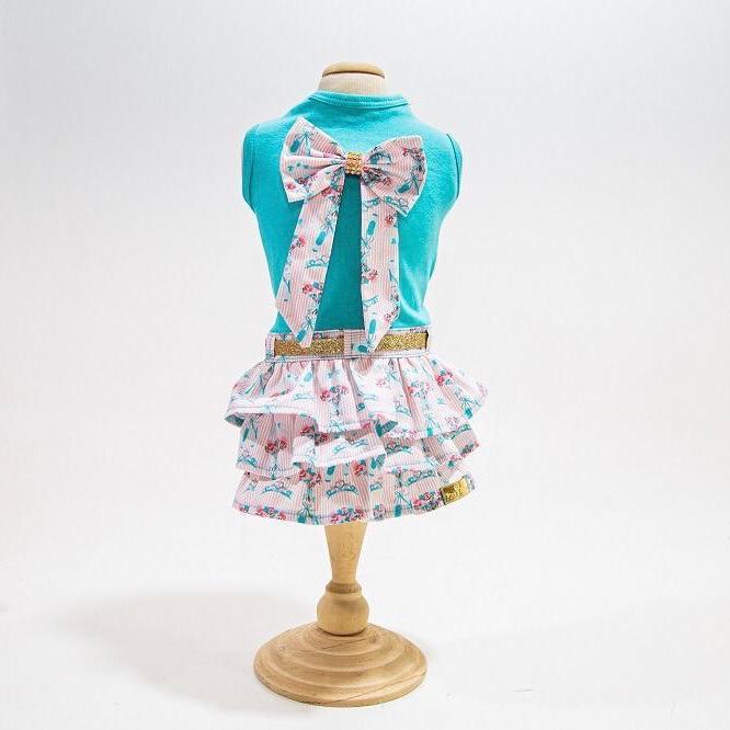Vestido Floral - Verde