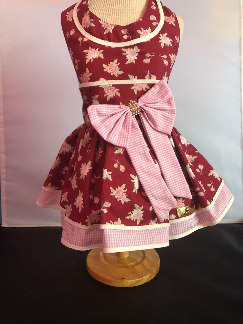 Vestido Floral Bordo
