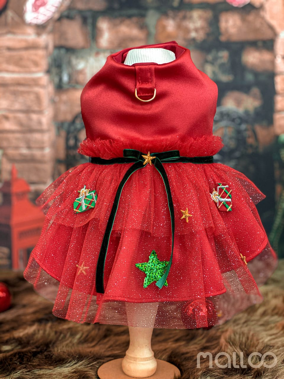 Vestido Gifts Vermelho (Natal)