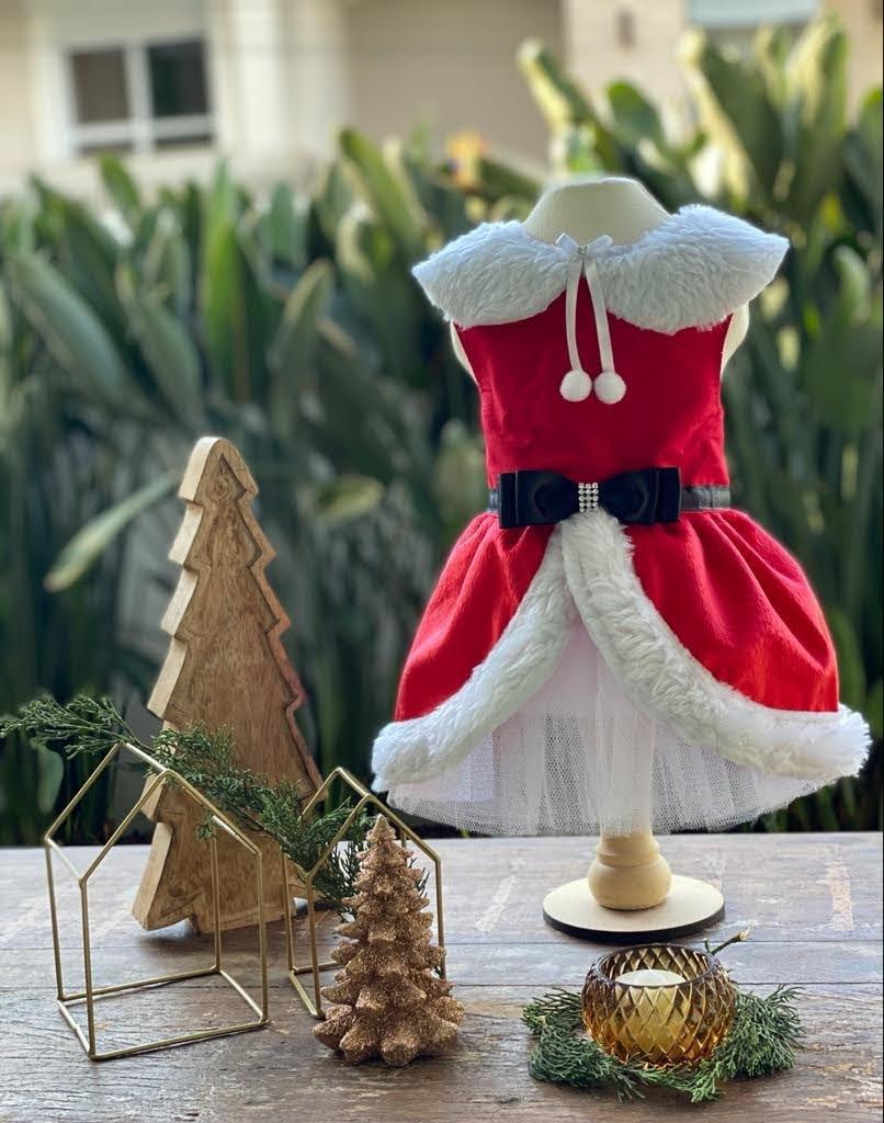 Vestido Mamãe Noel Laço (Natal)
