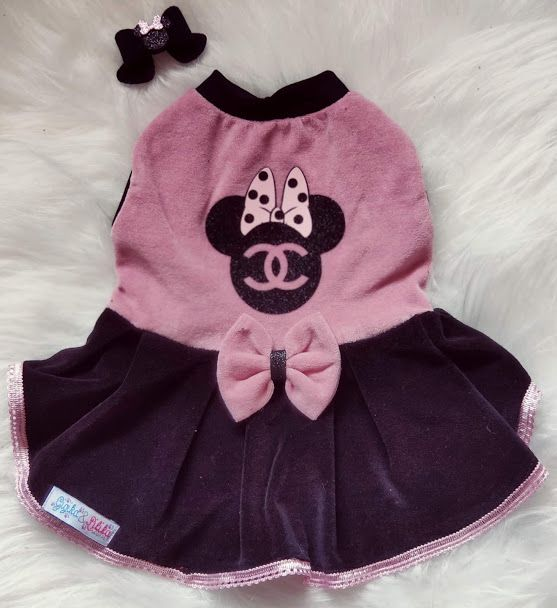 Vestido  para Cachorro Minnie Chanel
