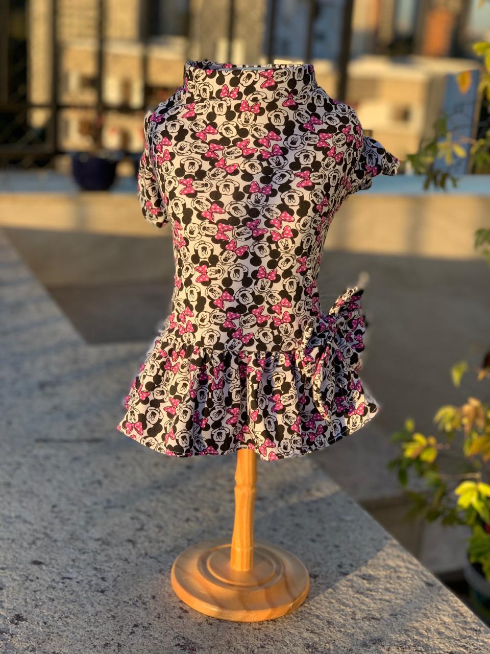 Vestido Minnie Roxo