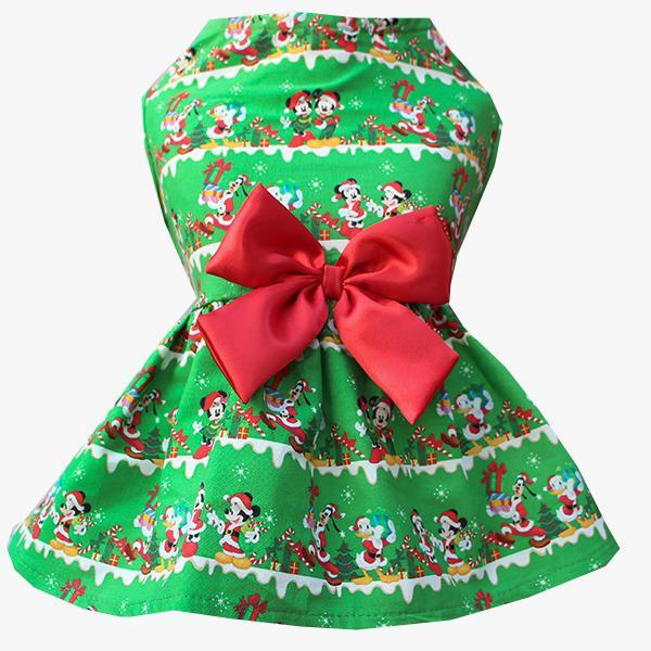 Vestido Natal Minnie Verde