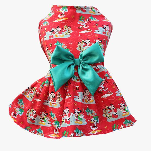 Vestido Natal Minnie Vermelho