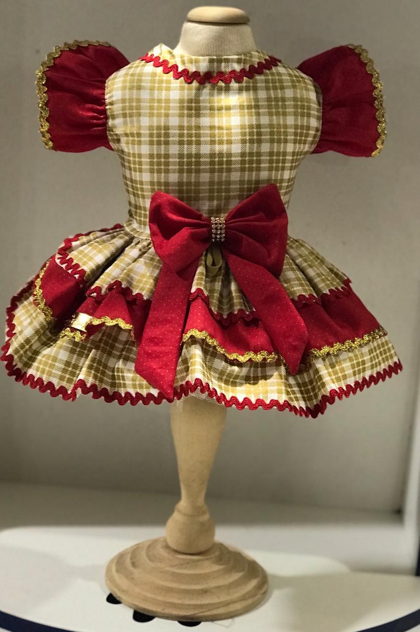 Vestido para Cachorro Xadrez - Natal