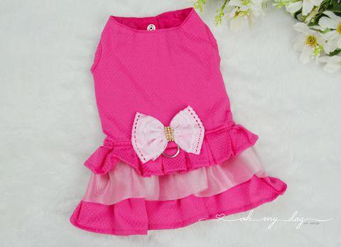 Vestido Peitoral Luxo Pink