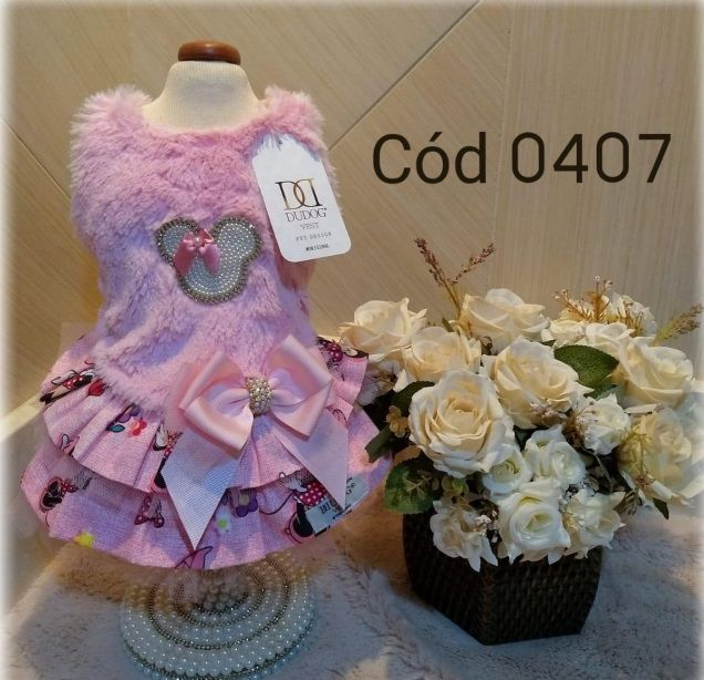 Vestido Minnie pelo rosa/02 saias