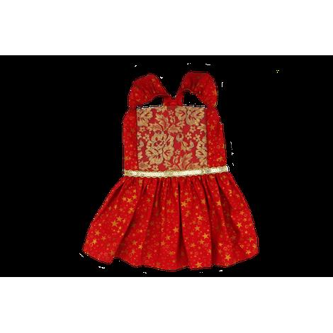 Vestido Vermelho e Dourado - NATAL