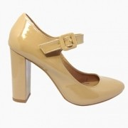 Scarpin Boneca Verniz Light tan
