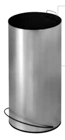 Lixeira Aço Inox Redonda com Pedal 25 Litros 31x61