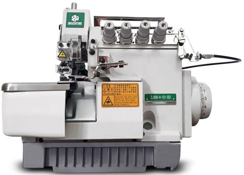 Overloque ponto cadeia com embutidor de correntinha e direct drive ZOJE ZJ-880-4-181-BD
