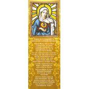 Imaculado Coração de Maria, santinho, marcador de página, pacote com 100 unidades