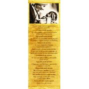 Madre Teresa de Calcutá, cartão com mensagem, santinho, pacote com 100 unidades