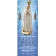 Nossa Senhora de Fátima, santinho, marcador de página, pacote com 100 unidades