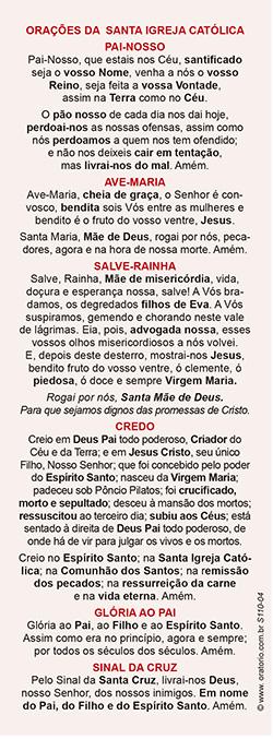 Santa Luzia, santinho, marcador de página, pacote com 100 unidades