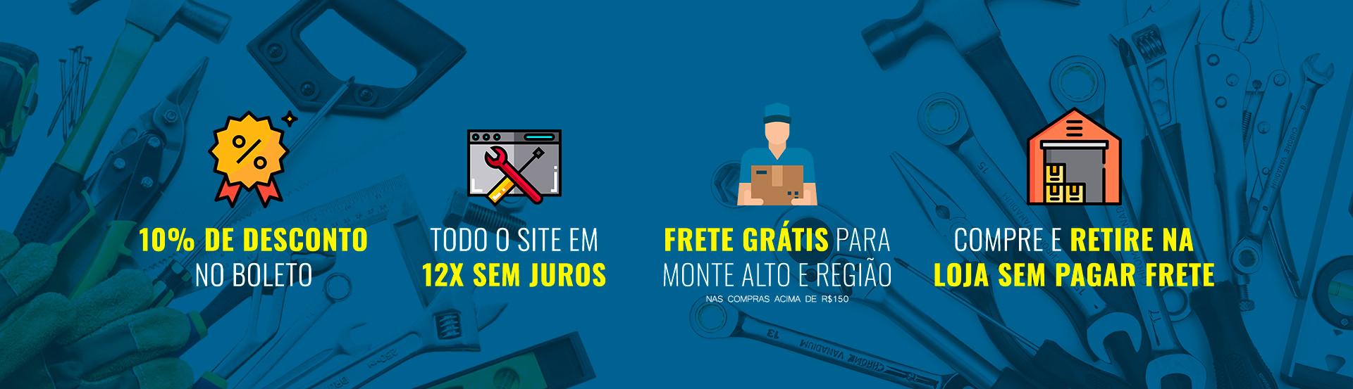 Produtos com entrega gratis, descontos e parcelado em até 12x sem juros.