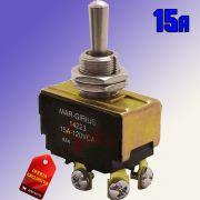 Chave / Interruptor de Alavanca Bipolar Metal L/D 15A MG 14223 Margirius