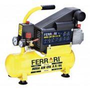 Compressor Ar C-6L 110/220v Mega Air Ferrari