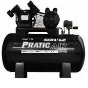 Compressor Ar Pratic Air Monofásico 100l 2,0cv Schulz-csv10