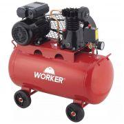 Compressor de Ar 1HP Monofásico 50 Litros 8 Bar 960 rpm 127V Worker