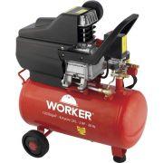 Compressor de Ar Monofásico 2HP 24 Litros 8 Bar 127v Worker