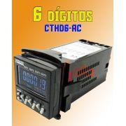 Contador / Temporizador / Tacômetro Digital 6 Digitos Cthd6-Ac 240Vca Metaltex