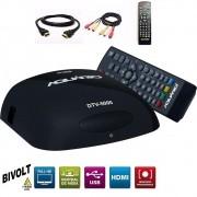 Conversor Digital de TV Full HD Aquário Gravador DTV 5000 Bivolt com Hdmi