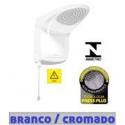 Ducha Chuveiro Acqua Jet Ultra Branco / Cromado Lorenzetti 220v 6800w com Haste Prolongadora