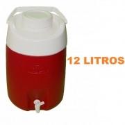 Garrafão / Botijão Térmico 12 Litros com Torneira Obba Vermelho
