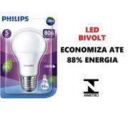 Lâmpada LED Residencial 7,5W 6500k Branca Philips Original 25mil horas