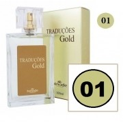 Perfume Traduções Gold Masculino Essência Azarro N1 100 ml Hinode