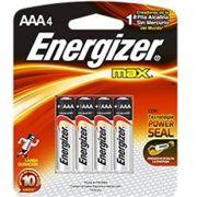Pilha Energizer Max AAA4 1,5v Alcalina
