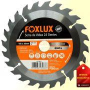 Serra de Vídea 24 Dentes 185 x 20mm 7 1/4 Pol. 7400 rpm Foxlux