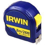 Trena Métrica Standard de Bolso / Fita em Aço de 8 Metros Irwin IW13948 ABS