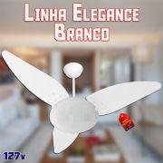 Ventilador de Teto Magnes Branco Linha Elegance 3 Pás Laqueadas 127v Venti Delta
