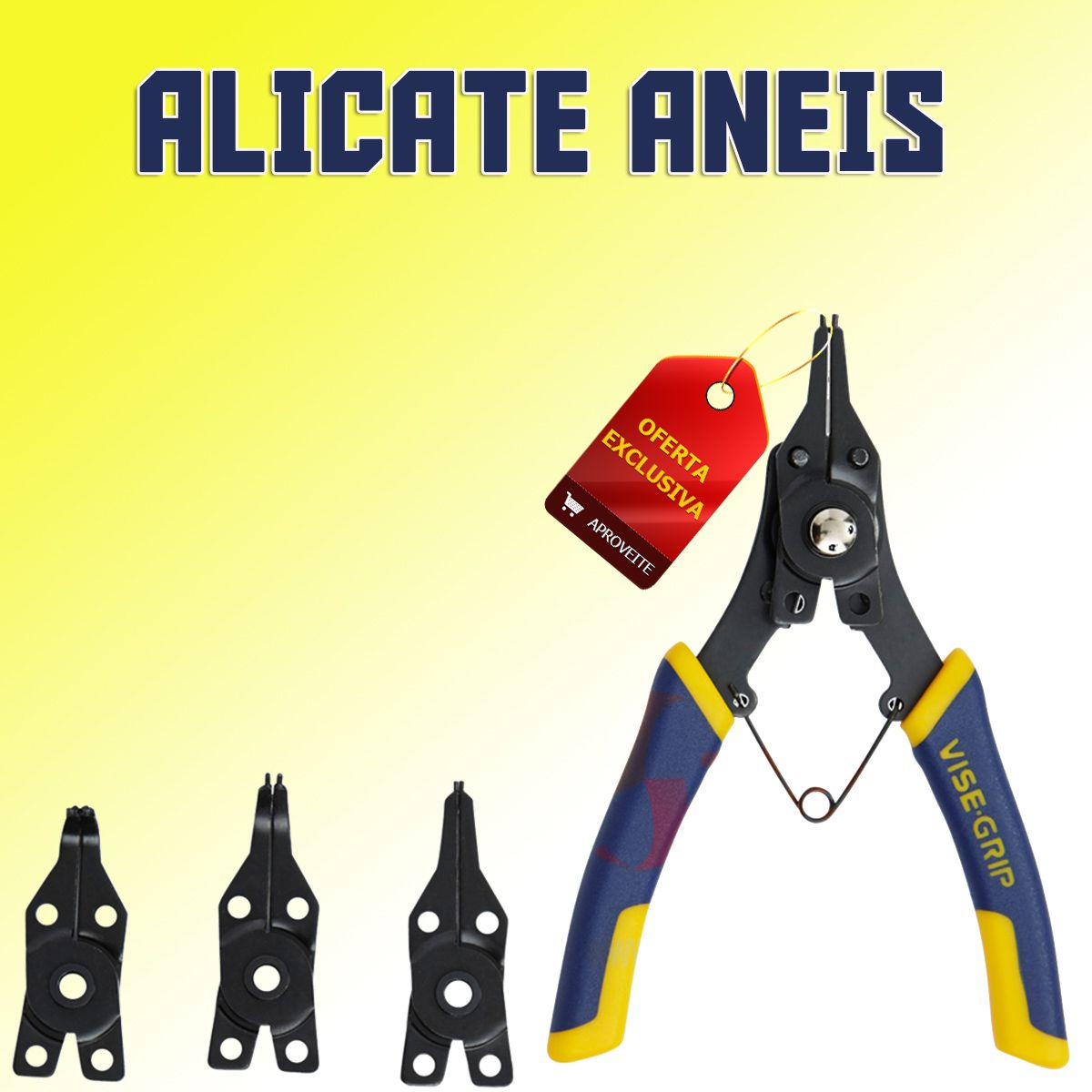 Alicate Anéis com Ponta Intercambiável 4x1 Irwin Ref 2078900