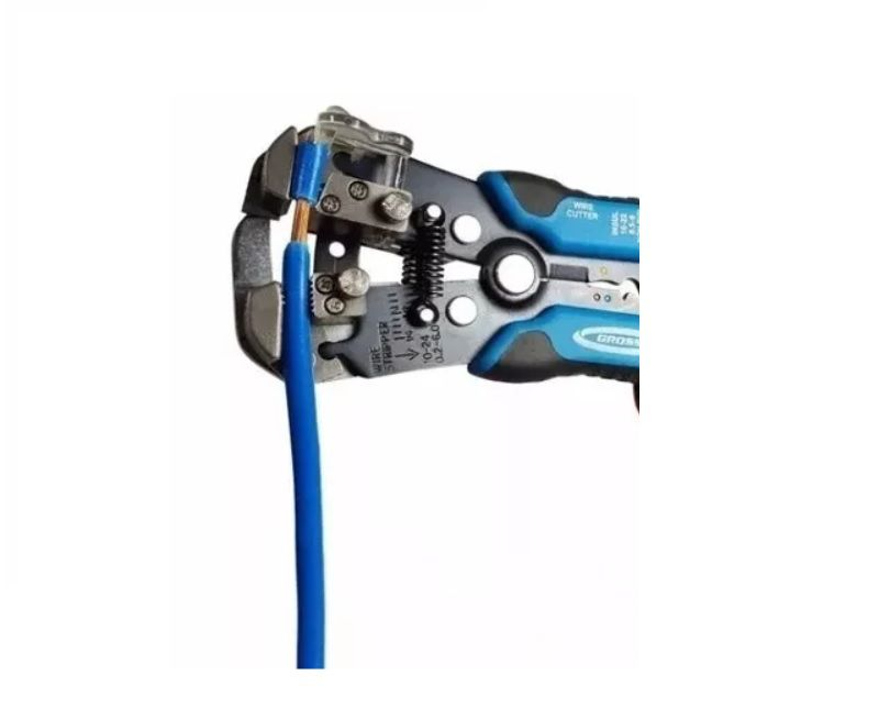 Alicate Descascador Decapador Desencapador de Fios p/ Eletricista 0,5mm A 8,0mm Gross