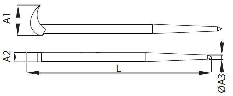 Alavanca para mecanico 387mm Belzer Ref 248011B