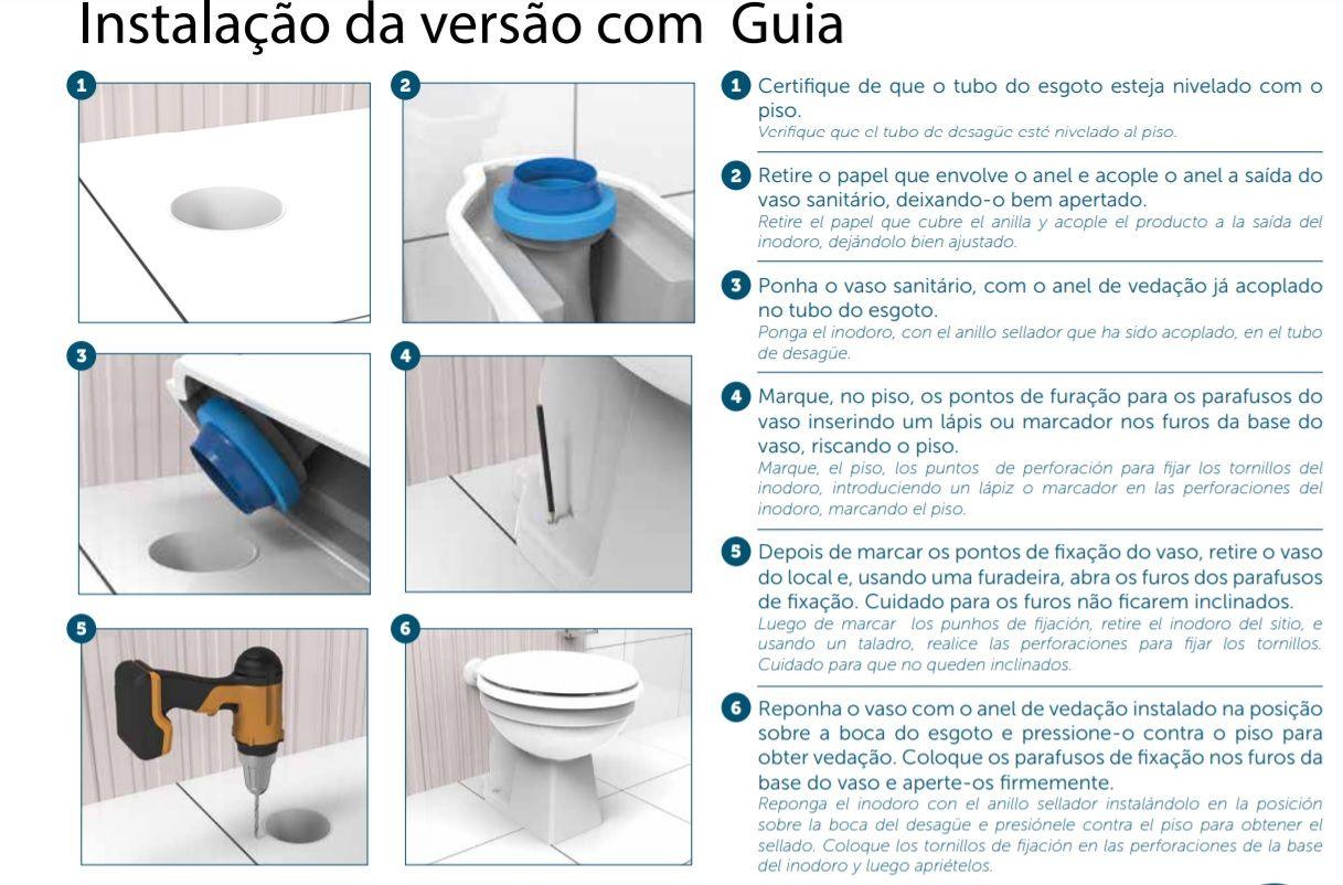 Anel de Vedação Vaso Sanitário com Guia Blukit