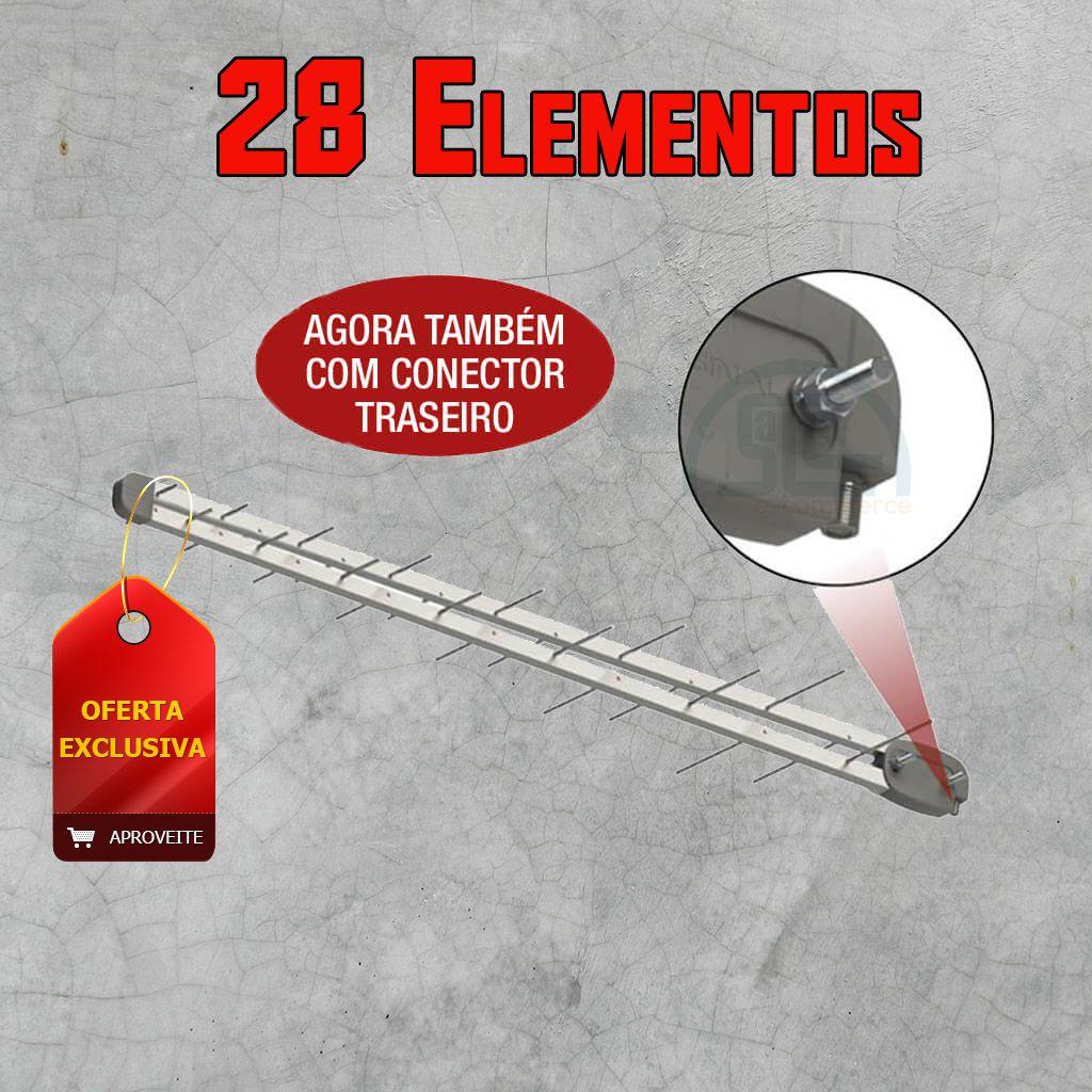 Antena Externa Log 28 elementos UHF, Digital e HDTV – Sinal Antenas SL-2800 PLUS