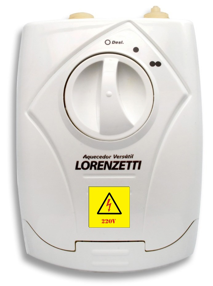 Aquecedor Elétrico de Água Lorenzetti 5500w 220v 3 Temperaturas Versátil
