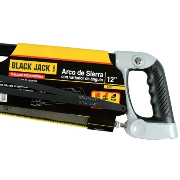 Arco de Serra Cabo Emborrachado 12'' C062 Black Jack 300mm Ângulo Variável