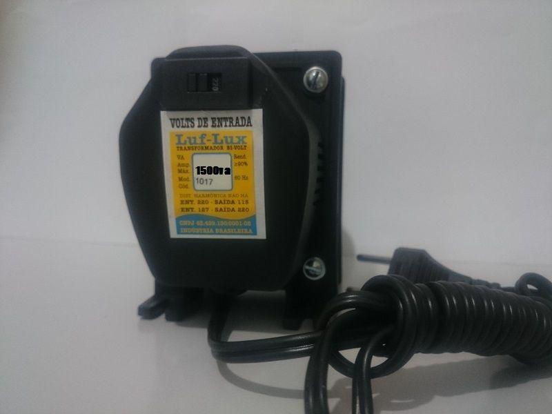 Auto Transformador de voltagem c/ Protetor Térmico 1500 VA Bivolt ECP Luf-Lux