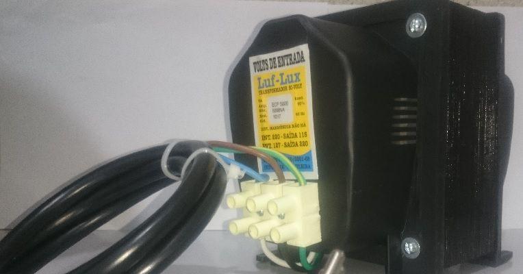 Auto Transformador de voltagem c/ Protetor Térmico 3000 VA Bivolt ECP Luf-Lux