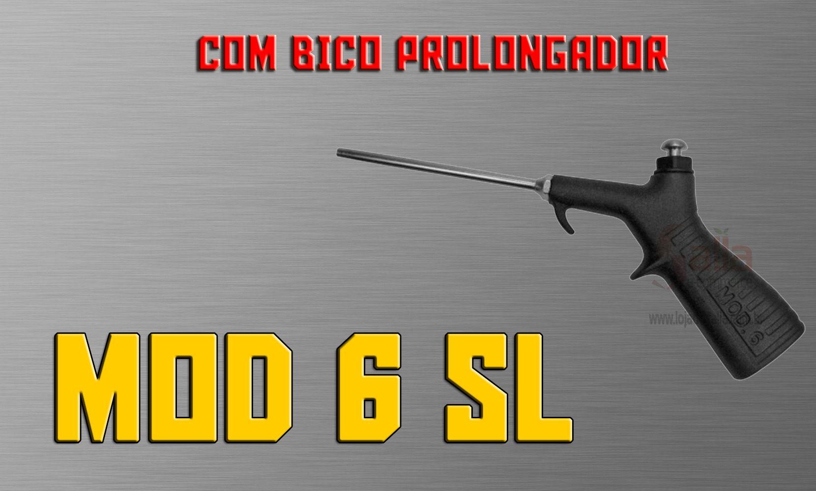 Bico de Ar para Limpeza / Soprador Pistola 1/4 Pol Mod. 6 PVC SL Arprex