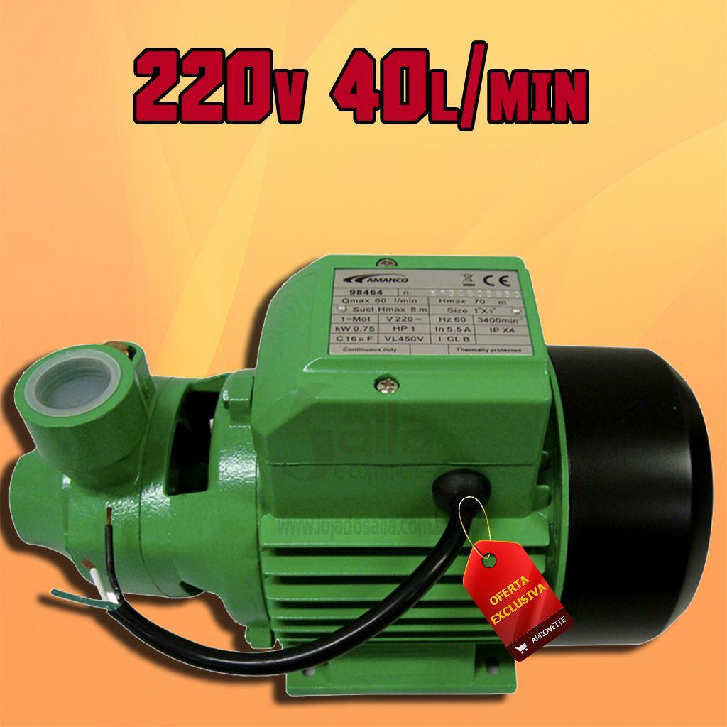 Bomba D'água Centrífuga Motobomba Periférica 1/2cv 220V 40Lts/Min XKM60 Amanco