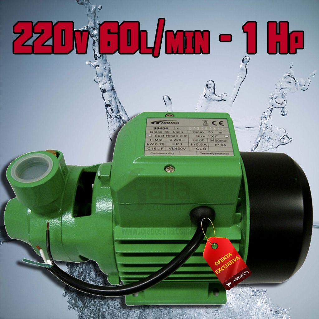 Bomba D'água Centrífuga Motobomba Periférica 1Cv 220V 60Lts/Min XKM80 Amanco