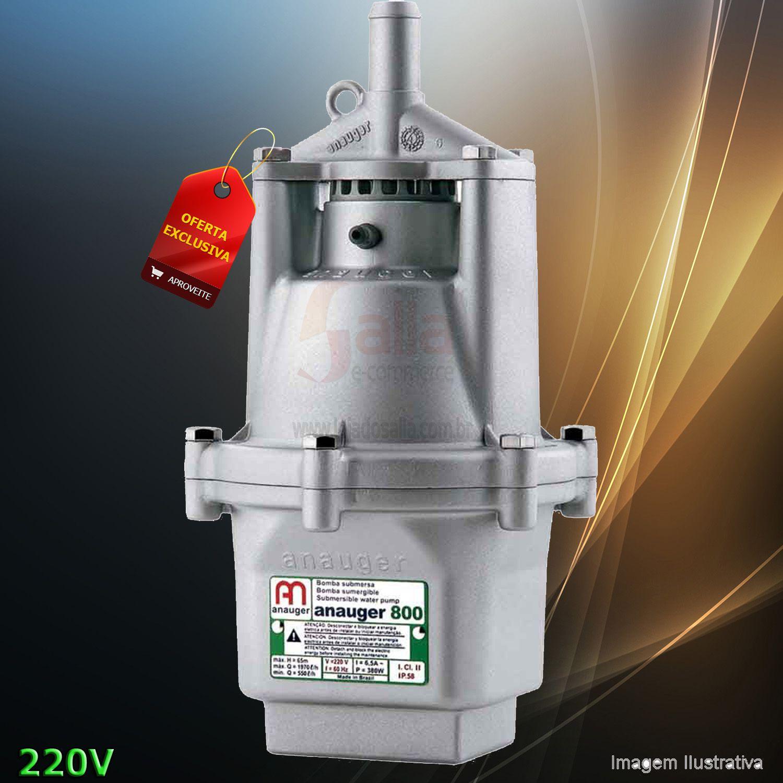 Bomba D'água Elétrica Submersa Vibratória 800 220V 380w Anauger Água Limpa
