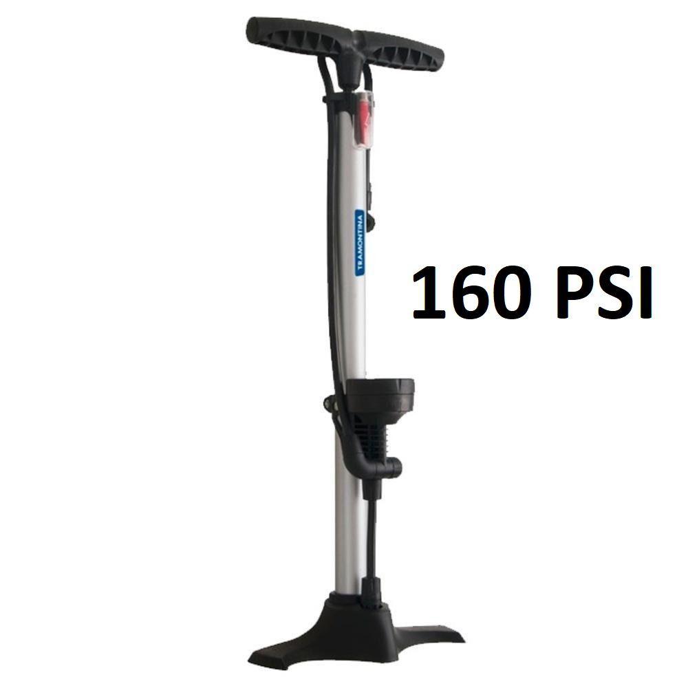 Bomba de Ar Manual para encher Pneus Bicicleta / Moto 160 Psi 11 Bar Tramontina