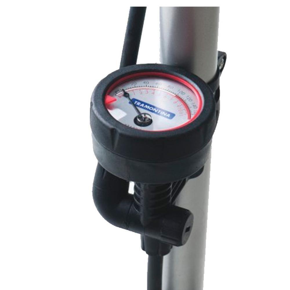Bomba de Ar Manual para encher Pneus Bicicleta / Moto / Bola / Boia 160 Psi 11 Bar Tramontina